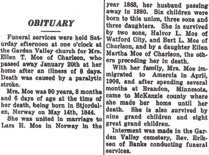 obituary examples mother